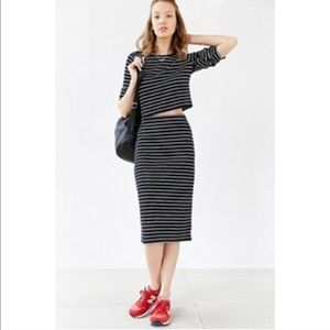 NWT BDG Striped Pencil Skirt